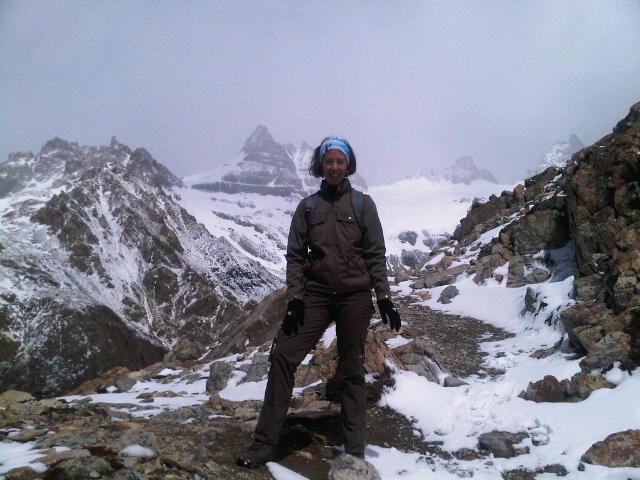 Gisa kurz vor dem Gipfel