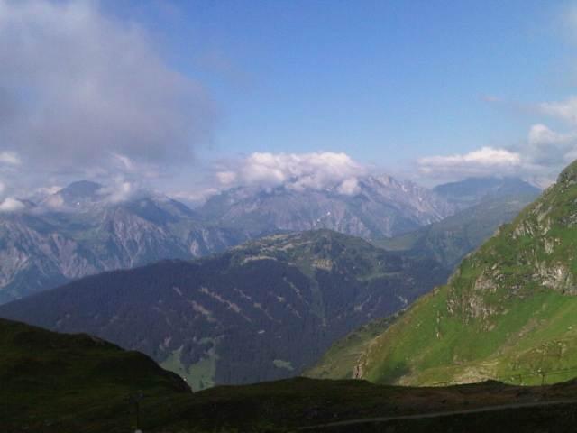 Blick von unserer Wormser Hütte auf 2307m