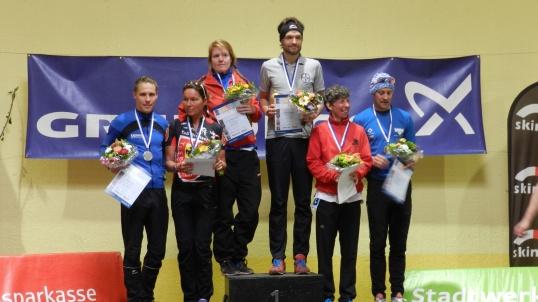 Siegerehrung Mettmann Duathlon Kurzdistanz 2013, Platz 2