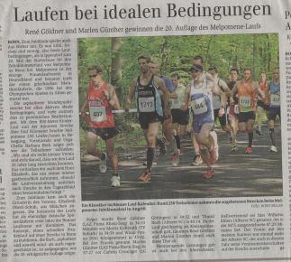 Melpomene 10km Kreismeisterschaften, General Anzeiger vom 25.05.13