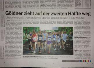 Melpomene 10km Kreismeisterschaften, Bonner Rundschau vom 21.05.2013