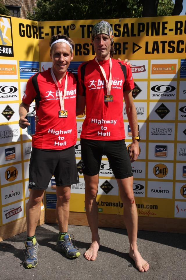 Transalpine Run 2013 - im Ziel nach 270 km