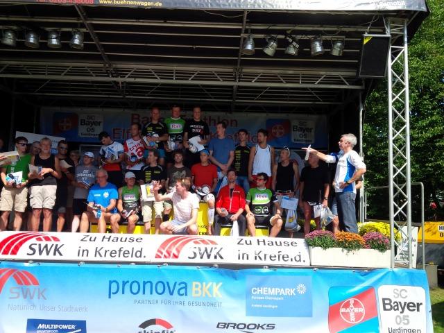 Krefeld Triathlon Siegerehrung