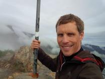 Gipfel des Lionshead, Aufstieg im totalen Nebel bei Null Sicht, oben hat es aufgerissen, zur Belohnung!