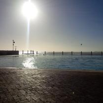Kapstadt, see point pool - kein Sturm, trotzdem 17 grad Celsius und genial zum schwimmen