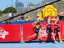 ITU worldcup, unsere Deuteutsche Anna Haug knapp am Podium vorbei
