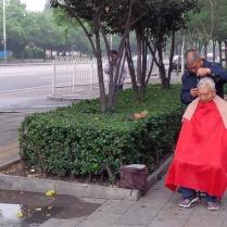 der Straßen Friseur