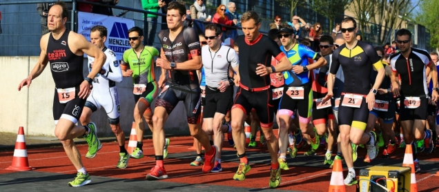 Start beim Mettmann Duathlon 2017