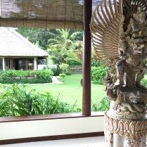 Villa Vastu: Blick aus dem Hauptbaus
