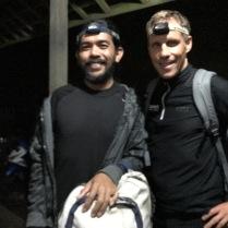 Kadek und ich kurz vor dem Aufstieg