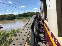 Drive with the death rail way train over the River Kwai Bridge