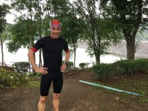First swim in the 30 degree hot big lake