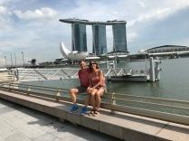 Gigantische Bauten in Singapur - das Marina Bay Sands