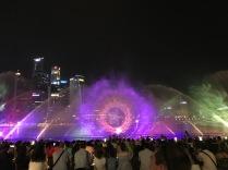 Wie die Bonner Klangwellen, nur größer und jeden Tag in Singapur