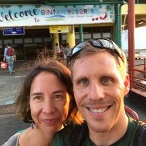 Ankunft auf Pulau Bintan - 1 Std Fahrt von Singapur mit der Schnellfähre