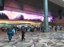 Singapur Flughafen ist wirklich modern