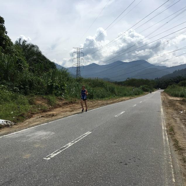 Letztes Tempotraining in Malaysia - ziemlich heiß