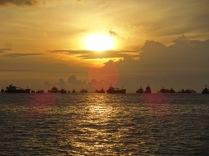 Sonnenaufgang kurz vor dem Start zum Duathlon