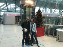 Ankunft in Frankfurt, ohne Gepäck! Das wollte noch etwas fliegen und wurde uns später nach Hause gebracht