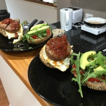 Kangaroo burger self made - highly recommended