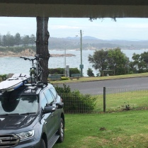 One of our stays, at Bermagui - with a great ocean view