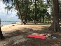 Ein letztes Mal in Singapur am Stadtstrand