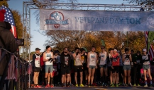 Runners take part in the Run Pacers Veterans Day 10K along West Potomac Park, Sunday, Nov. 11, 2018, in Washington.